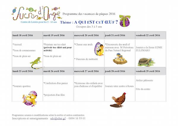 Programme 3 - 5 ans