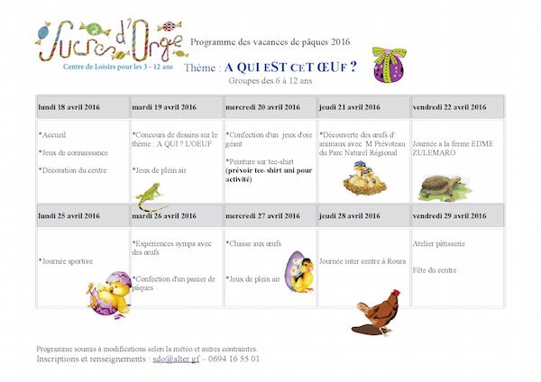 Programme 6 - 12 ans
