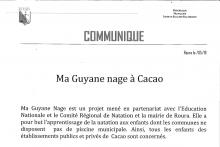 Ma Guyane nage à Cacao