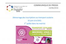 Ouverture des inscriptions au transport scolaire dès le 01 juillet 2016 en mairie