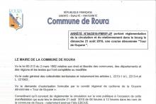 ARRÊTE RÉGLEMENTATION BOURG DE ROURA