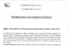 Informations aux parents d'éléves
