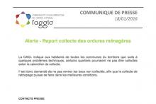 Report collecte des ordures ménagères