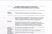 Offre d'emploi : chargé(e) de mission logement foncier habitat – Projet urbain et développement social et économique