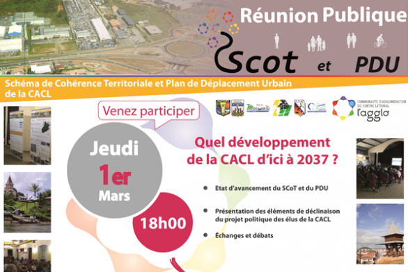 Réunion Publique : SCOT et PDRU