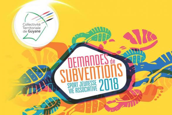 Campagne 2018: Demandes de subvention «Actions en faveur de la Jeunesse et Vie association de la Collectivité Territoriale de Guyane»